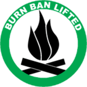 Burn Ban Lifted Graphic